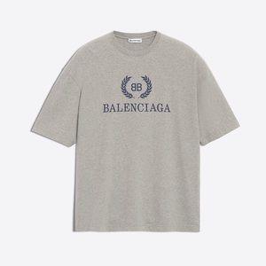 Balenciaga Heather Grey T Shirt Luxury NWT XS $450